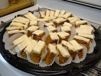 Carrot cake plattered